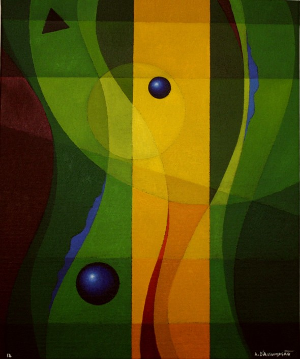 "BALANCE, oil on canvas, 2012 | 38 x 46 cm - 14,96"" x 18,11 in."